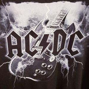 AC/DC Band T-shirt Liquid Blue XXL